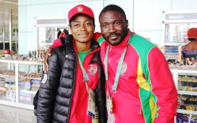 Dieudonné Ebouele, entraîneur nationale de lutte senior dames et une athlète