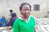 Odiane Ngouanaha, une victime des déguerpissements à Fret Aéroport. Photo Mathias Mouendé Ngamo