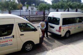 Don de deux minibus remis par l'Oms à la délégation régionale de la Santé publique du Littoral