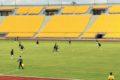 Dimanche, le 25 avril 2021. Une phase de jeu entre As Fortuna et Union sportive de Douala. Crédit Photo: Moustapha Oumarou