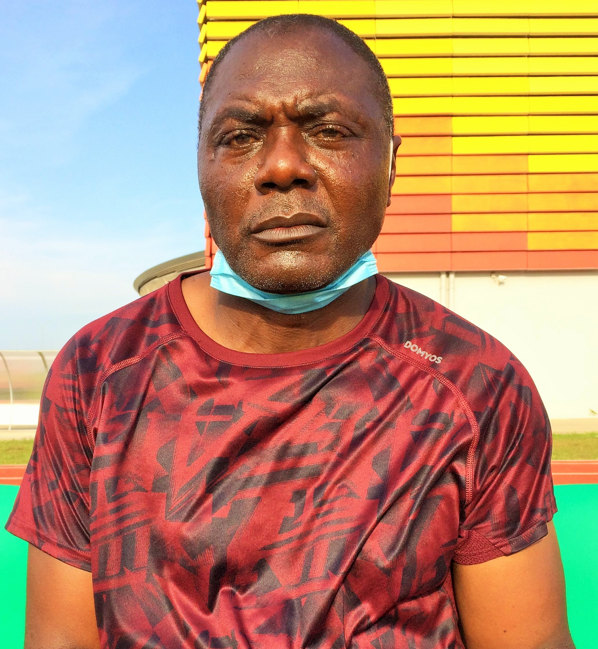 Jean Dieudonné Nké, entraîneur de Ums de Loum. Photo: Moustapha Oumarou
